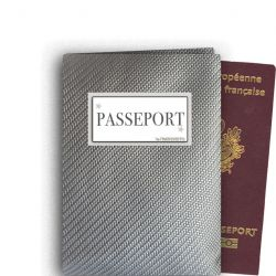 Etui passeport Carbone