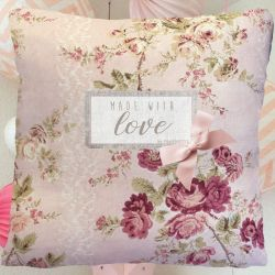 "Coussin Enfant ""Made with love"" - Fleurs"