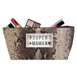 Pochette maquillage Khara Sable #SUPERMAMAN