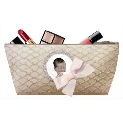Pochette maquillage Ecaille sable
